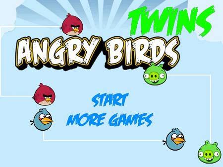 دانلود بازی پازل پرندگان خشمگین دوقلو twins angry birds آنلاین