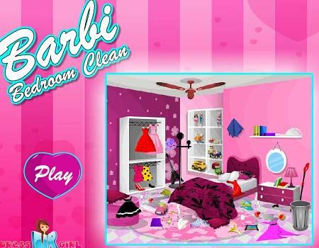 دانلود بازی باربی تمیز کردن اتاق barbie bedroom clean