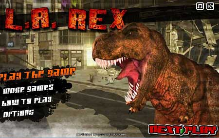 دانلود بازی آنلاین دایناسور خشمگین L.A.Rex