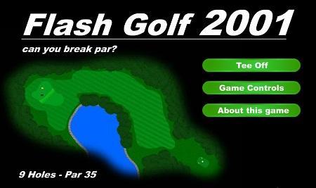 بازی فلش آنلاین گلف Flash Golf