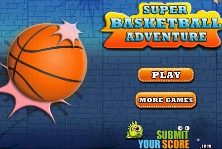 بازی توپ بسکتبال Super Basketball Adventure