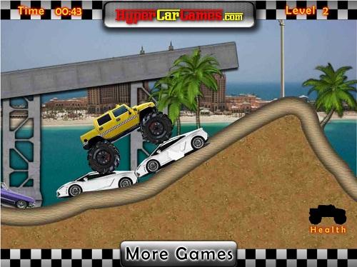 دانلود بازی فلش آنلاین ماشین با چرخهای بزرگ