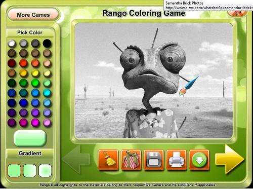 دانلود بازی فلش آنلاین رنگ کردن نقاشی رانگو rango