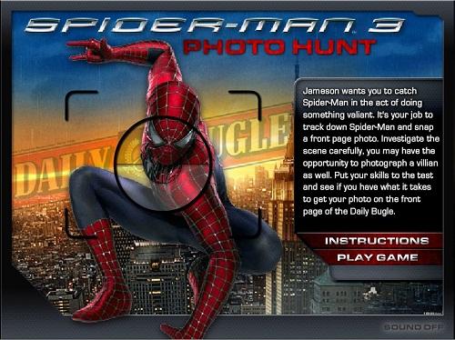 دانلود بازی فلش آنلاین عکس گرفتن از اسپایدرمن 3-spider-man