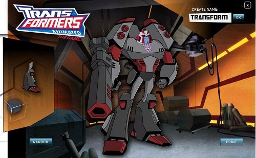 دانلود بازی فلش آنلاین طراحی ترانسفورمرز-transformers