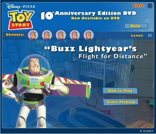 دانلود بازی فلش آنلاین داستان اسباب بازی بازbuzz-toy story
