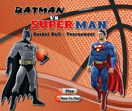 بسکتبال با بتمن و سوپر من