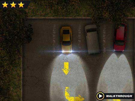 بازی پارک ماشین در شب