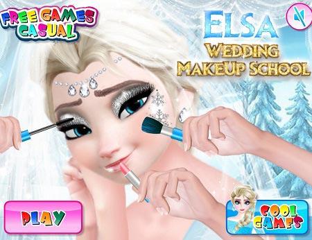 بازی مدرسه آرایشگری السا elsa weeding makeup school