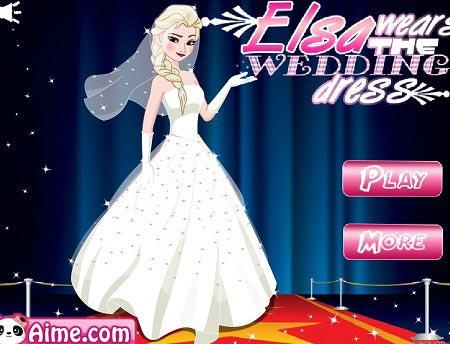بازی دخترانه لباس عروسی السا