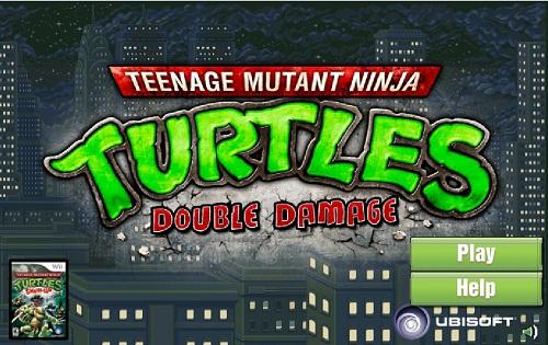 بازی فلش مرحله ای لاکپشت های نینجا ninja turtles