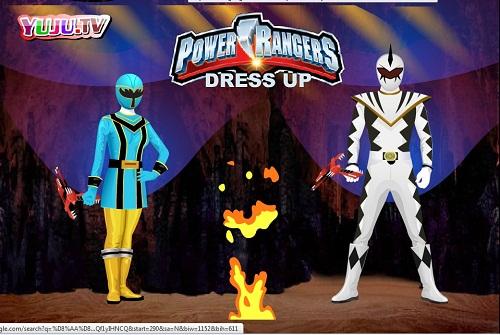 دانلود بازی فلش آنلاین طراحی لباس power rangers