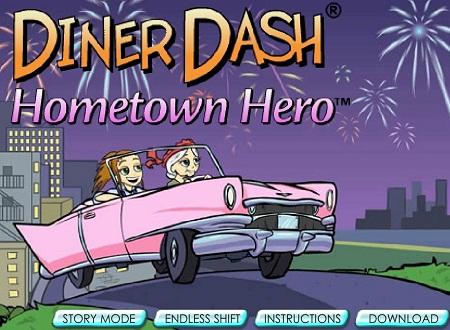 دانلود بازی فلش دخترانه آنلاین مسابقه شام Diner Dash