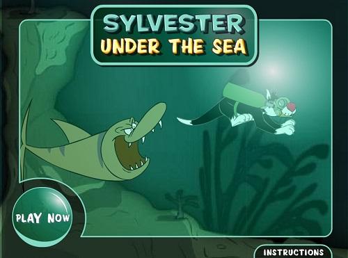 دانلود بازی فلش آنلاین سرگرم کننده سیلوستر sylvester در آب