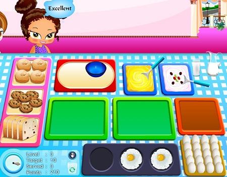 دانلودبازی فلش آنلاین دخترانه بچه داری وغذاپختن برای بچه