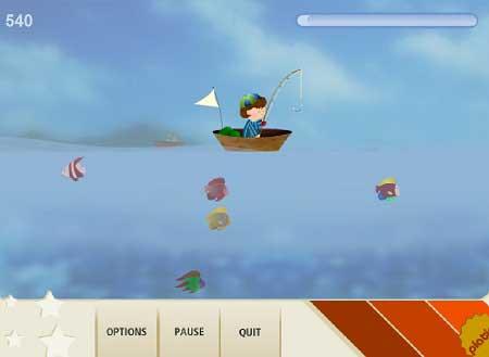 بازی ماهیگیری با قایق