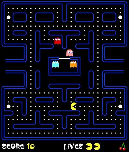 دانلود بازی کم حجم فلش آنلاین سرگرم کننده نقطه بازي PAKMAN