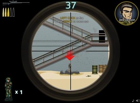 دانلود بازی فلش آنلاین اکشن قشنگ کانتر اسنایپر counter sniper