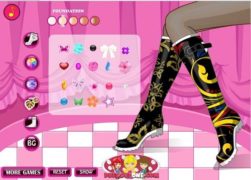 دانلود بازی فلش آنلاین دخترانه طراحی و تزیین کفش و جوراب زنانه