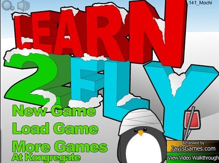 دانلود بازی فلش آنلاین سرگرم کننده آموزش پرواز پنگوئن ها