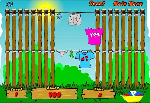 دانلود بازی فلش دخترونه -آویزان کردن رخت و لباس