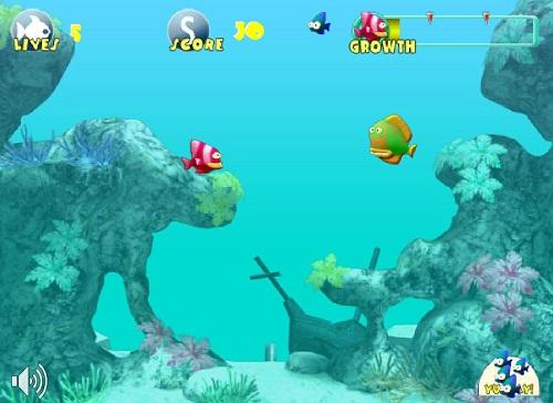 دانلود بازی فلش اینترنتی رایگان سرگرم کننده خوردن ماهی-بامزه و جالب