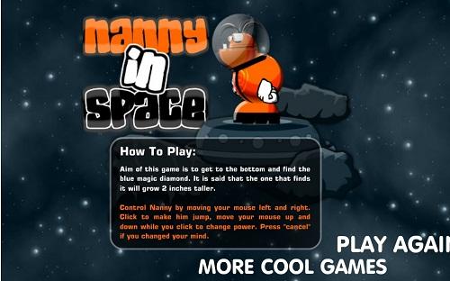 دانلود بازی فلش اینترنتی رایگان پرشی و بپر بپر آدم فضا نورد-کم حجم