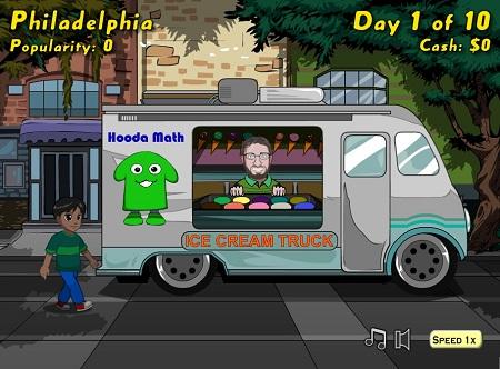 دانلود بازی فلش آنلاین مدیریت و مرحله ای کامیون بستنی فروشی