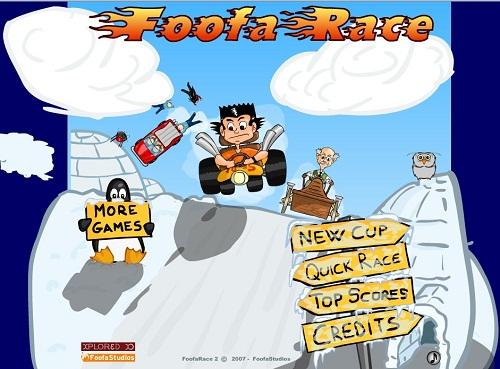 دانلود گیم فلش اینترنتی مجانی اتومبیل رانی با تجهیزات جنگی-کارتونی