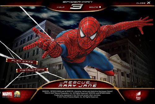 دانلود بازی فلش اینترنتی رایگان مرد عنکبوتی spiderman 3