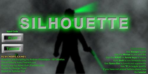 دانلود بازی فلش اینترنتی رایگان جاسوس بازی-شبح 1 silhouette