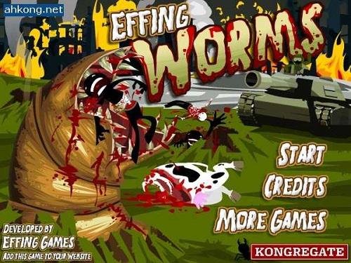 دانلود،بازی آنلاین مرحله اي و سرگرم کننده کرم هاي قاتل يک effing worms