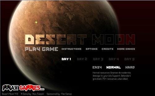 دانلود بازی فلش اینترنتی رایگان دفاع از قلعه در صحرای ماه
