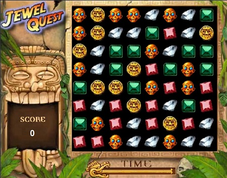 بازی پازل آنلاین مرحله ای، جستجوی جواهرات Jewel Quest