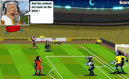 بازی آنلاین فوتبال پنالتی : شلیک توپ به زامبی ها!!