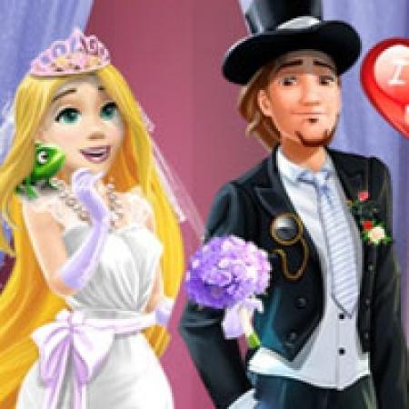 دانلود  بازی دخترانه عروس و داماد راپونزل