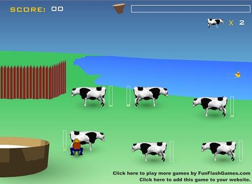دانلود بازی فلش اینترنتی رایگان سرعتی و عکس العمل سریع در شیر دوشیدن از گاو