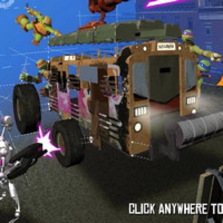 دانلود  بازی لاک پشت های نینجا ساخت ماشین نبرد