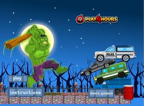 دانلود بازی فلش اینترنتی رایگان هالک قدرتمن در شهر hulk-ساده