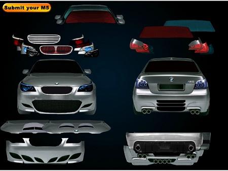بازی فلش آنلاین اسپرت کردن ماشین بی ام و BMW5