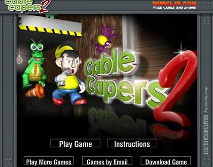 بازی فلش آنلاین  مرحله ای شبیه ماریو Cable-Capers