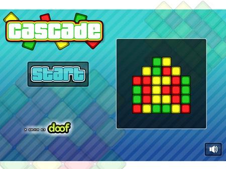 بازی فلش آنلاین پازل cascade