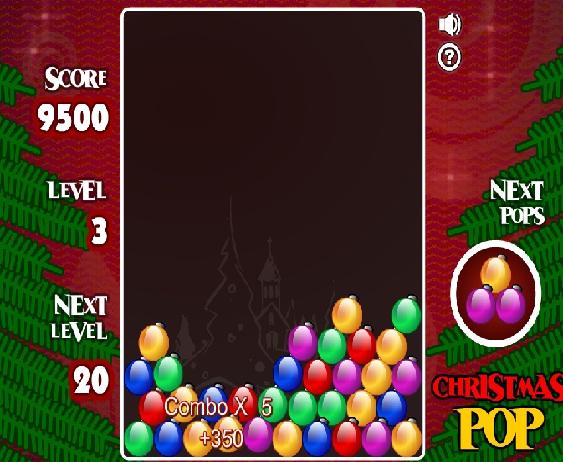 بازی فلش آنلاین پازل  christmaspop