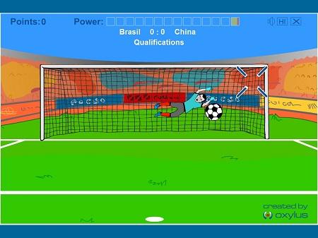 بازی فلش آنلاین پنالتی فوتبال