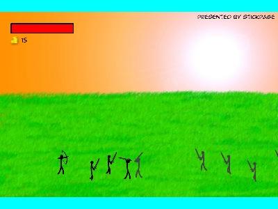 بازی فلش آنلاین کماندار و شمشیرزن kamandar