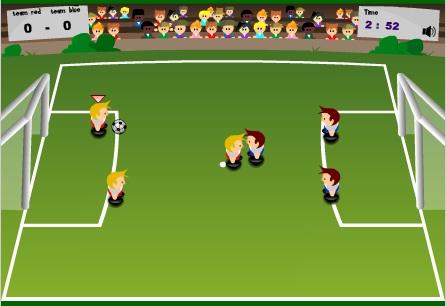 بازی فلش آنلاین فوتبال با موس