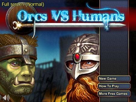 بازی فلش آنلاین مبارزه انسان و غول