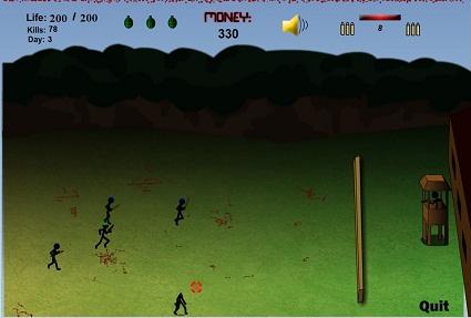 بازی فلش آنلاین استراتژیک دفاع از قلعه-Stickman-Madness-3