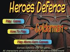 بازی آنلاین مرد عنکبوتی -دفاع قهرمانان HeroesDefence Spiderman