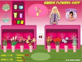 بازی فلش آنلاین فروشگاه گل باربی - Barbie Flowers Shop